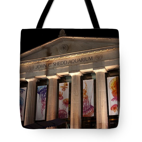 Shedd Aquarium With Jellyfish Exhibit Tote Bag by Paul Velgos