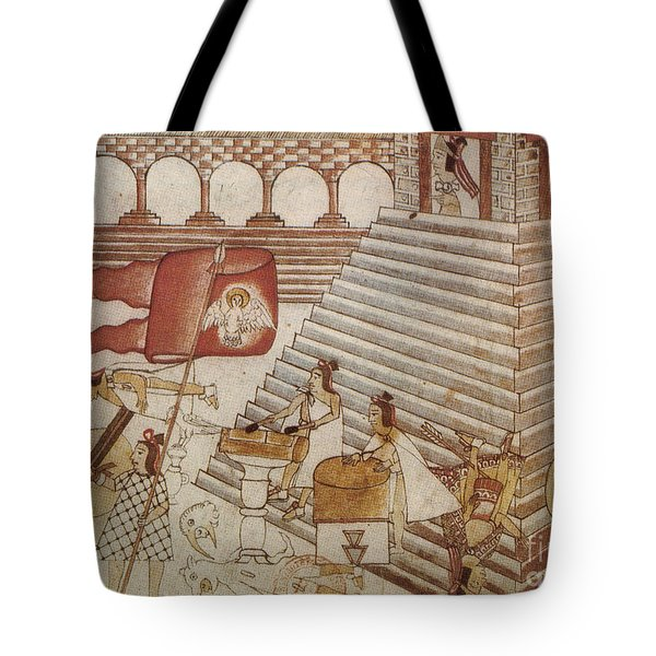 Siege Of Tenochtitlan 1521 Tote Bag by Photo Researchers