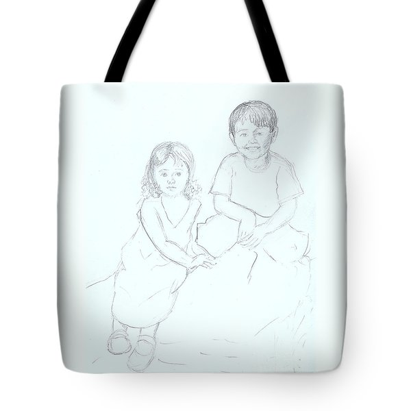 Tote Bag featuring the drawing Singapore Babes by Nareeta Martin