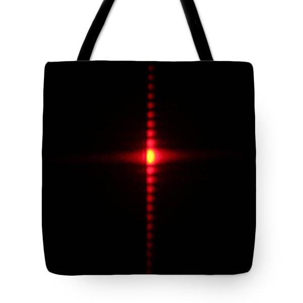 Single Slit Diffraction Tote Bag by Ted Kinsman