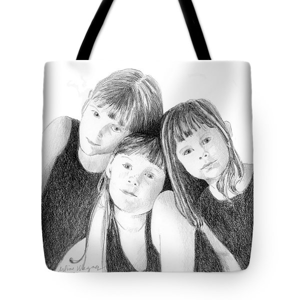 Sisters Tote Bag by Arline Wagner