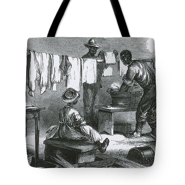 Slaves In Union Camp Tote Bag by Photo Researchers