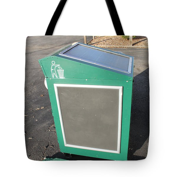 Solar Powered Trash Compactor Tote Bag by Photo Researchers, Inc.