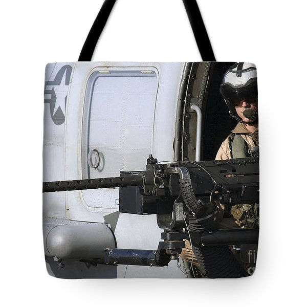 Soldier Mans A .50 Caliber Machine Gun Tote Bag by Stocktrek Images