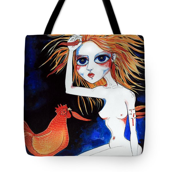 Tote Bag featuring the painting Sorry by Leanne Wilkes