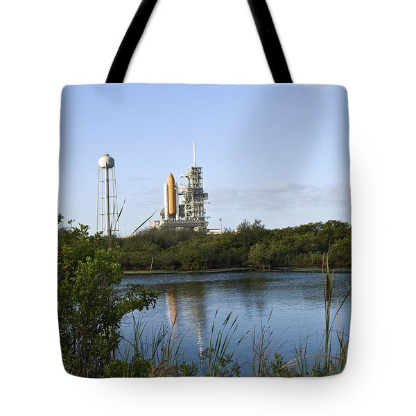 Space Shuttle Atlantis Sits Ready Tote Bag by Stocktrek Images