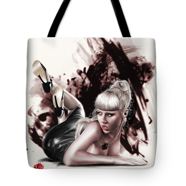 Spider Webs Tote Bag by Pete Tapang