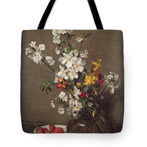 Spring Bouquet Tote Bag by Ignace Henri Jean Fantin-Latour