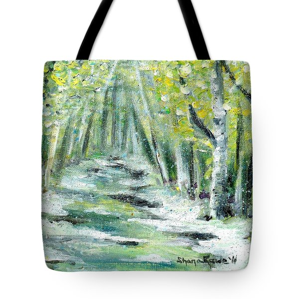 Tote Bag featuring the painting Spring by Shana Rowe Jackson