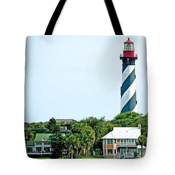 St. Augustine Lighthouse Tote Bag by Kenneth Albin