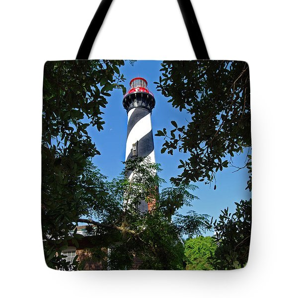 St Augustine Lighthouse Tote Bag by Skip Willits