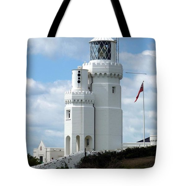 St. Catherine's Lighthouse Tote Bag by Carla Parris