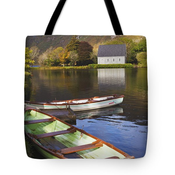 St. Finbarres Oratory And Rowing Boats Tote Bag by Ken Welsh