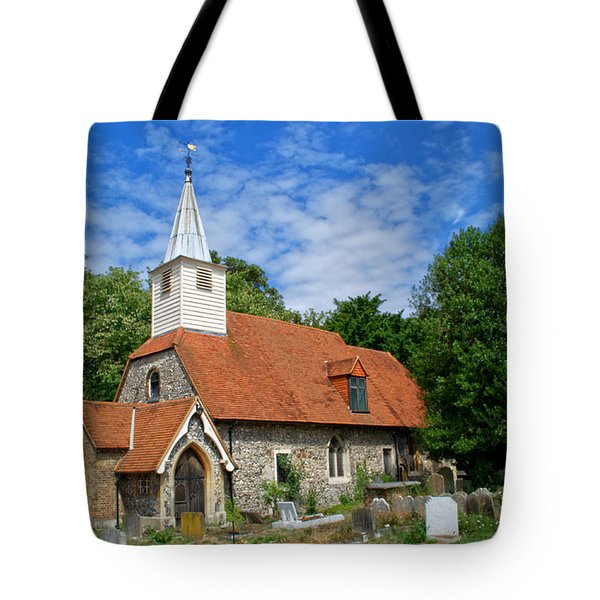 St Laurence Church Cowley Middlesex Tote Bag