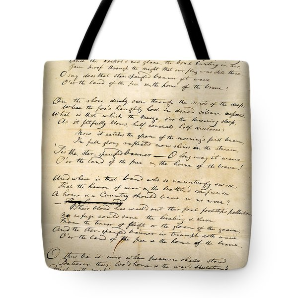 Star Spangled Banner 1814 Tote Bag by Granger