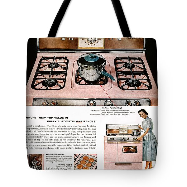 Stove Advertisement, 1957 Tote Bag by Granger