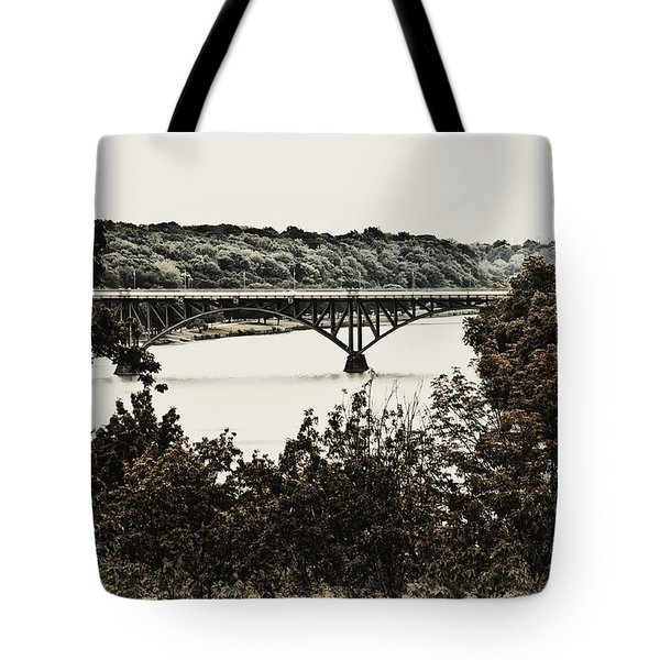 Strawberry Mansion Bridge From Laurel Hill Tote Bag by Bill Cannon