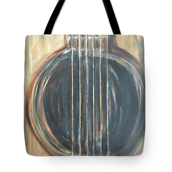 Strings Acoustic Sound Tote Bag