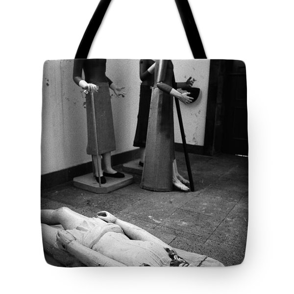 Stripped Saints Tote Bag by Gaspar Avila