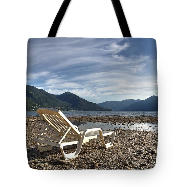 Sun Chair On Lake Maggiore Tote Bag by Joana Kruse