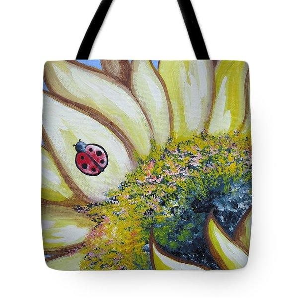 Sunflower And Ladybug Tote Bag