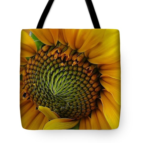 Tote Bag featuring the photograph Sunflower Close Up by Bruce Bley