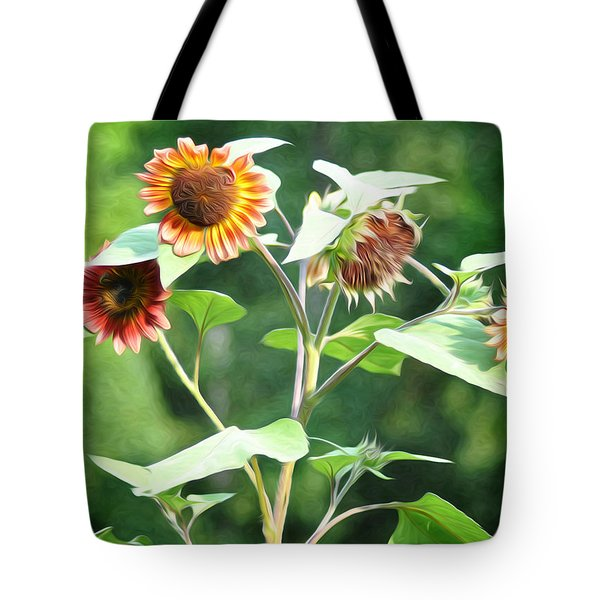 Sunflower Power Tote Bag by Bill Cannon