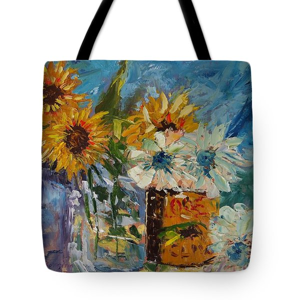 Sunflower Still Life Tote Bag