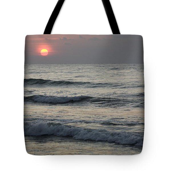 Sunrise Over Arabian Sea Hawf Protected Tote Bag by Sebastian Kennerknecht