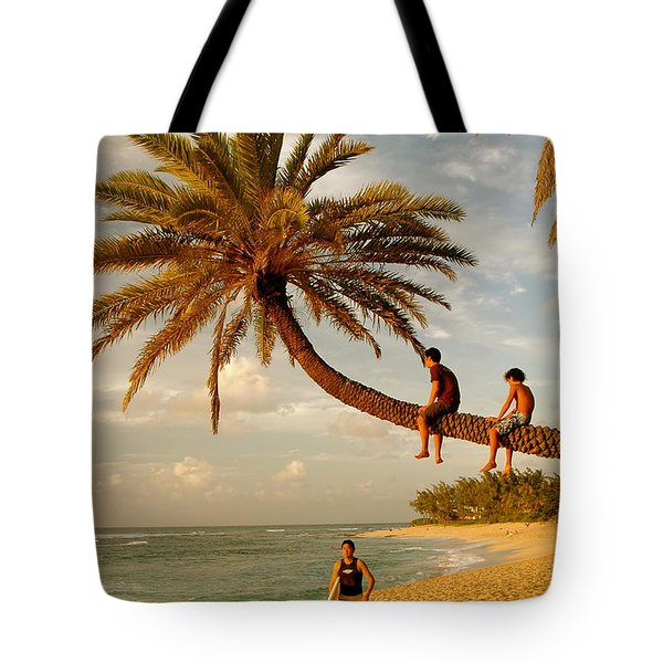 Sunset Beach Oahu Tote Bag