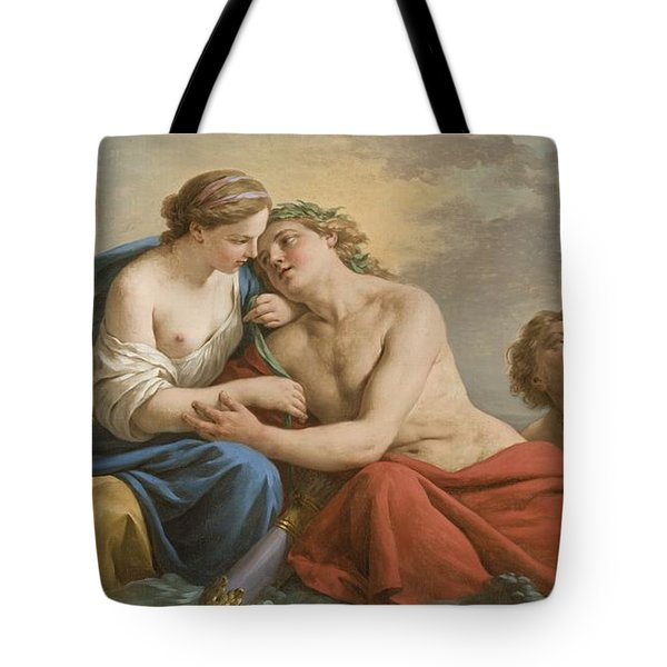 Sunset Tote Bag by Louis Jean Francois I Lagrenee