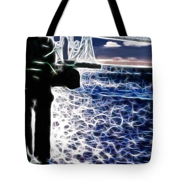 Sunset On The Columbia River Tote Bag by Methune Hively