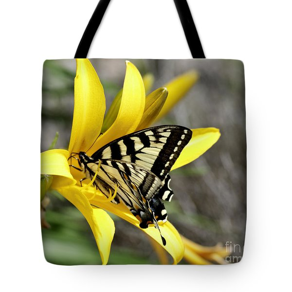 Swallowtail Yellow Lily Tote Bag