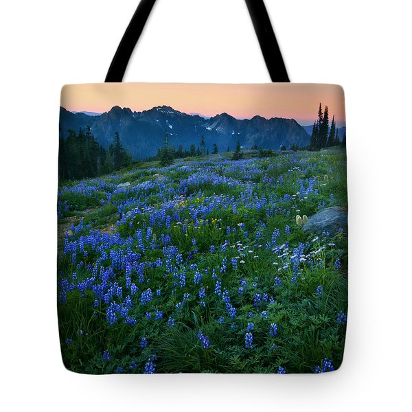 Tatoosh Sunrise Tote Bag by Mike  Dawson