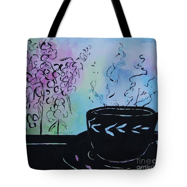 Tea And Snap Dragons Tote Bag by Jan Bennicoff