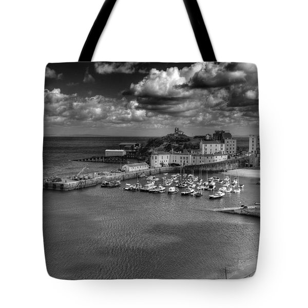 Tote Bag featuring the photograph Tenby Harbour by Steve Purnell