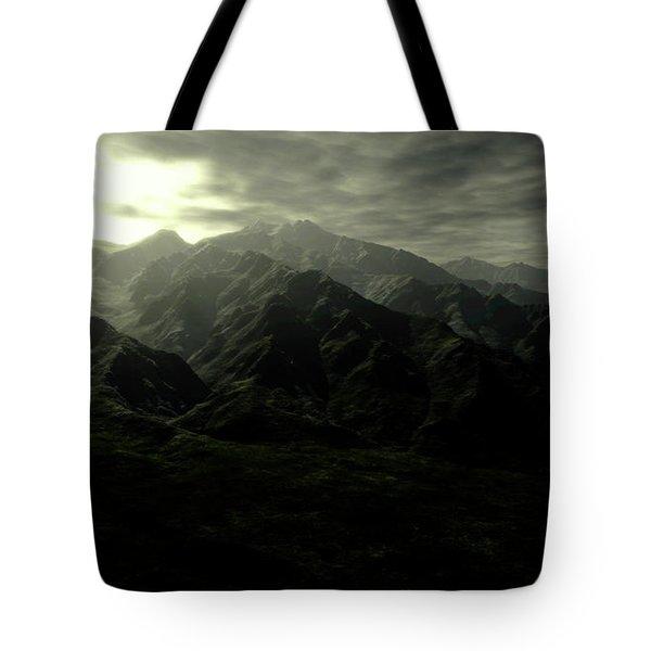 Terragen Render Of Mt. Whitney Tote Bag by Rhys Taylor