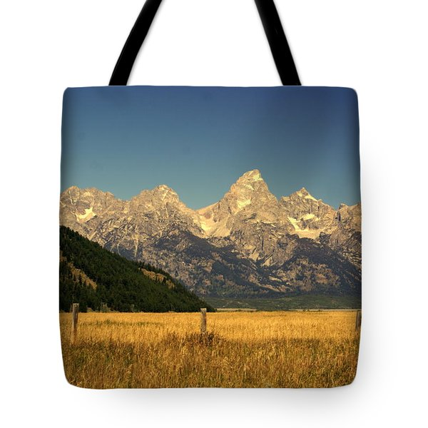 Tetons 3 Tote Bag by Marty Koch