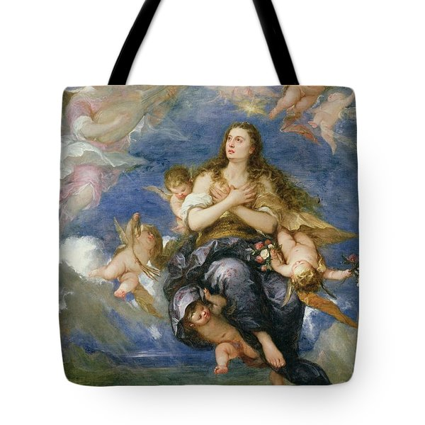The Assumption Of Mary Magdalene Tote Bag by Jose Antolinez