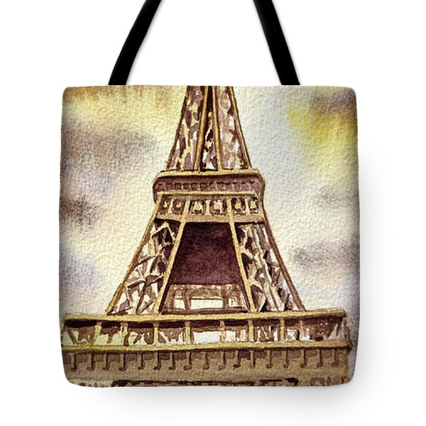 The Eiffel Tower  Tote Bag by Irina Sztukowski