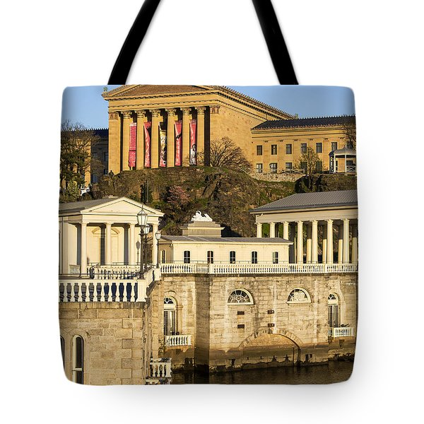 The Fairmount Water Works  Tote Bag by John Greim