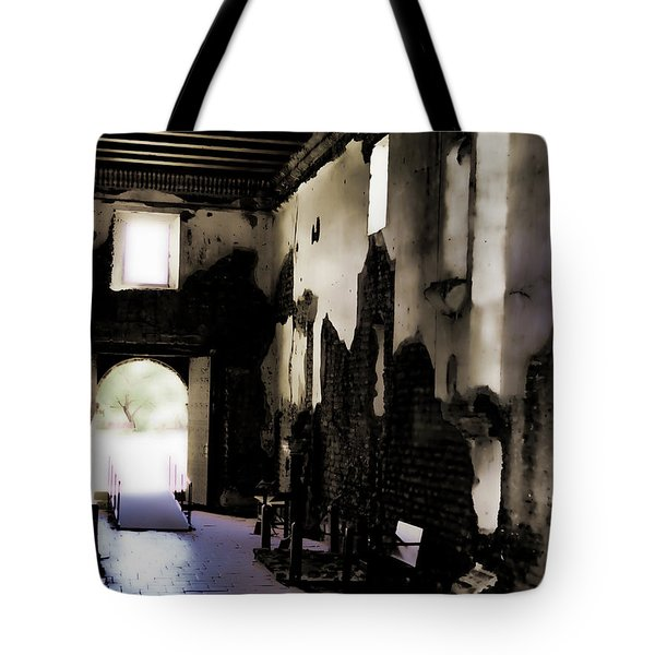 The Ghostly Nave Tote Bag by Donna Greene