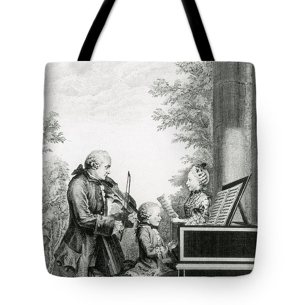 The Mozart Family On Tour, 1763 Tote Bag by Photo Researchers