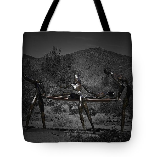Tote Bag featuring the photograph The Nurses by Betty Depee