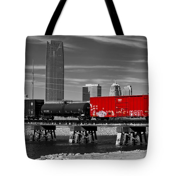 The Red Box Car Tote Bag by Doug Long