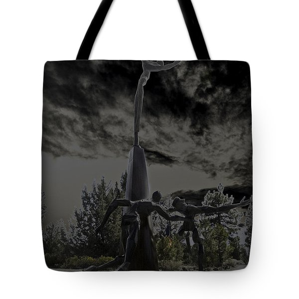 Tote Bag featuring the photograph The Why Group  by Larry Depee
