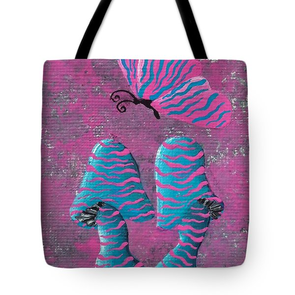 The Zebra Effect Tote Bag by Oddball Art Co by Lizzy Love