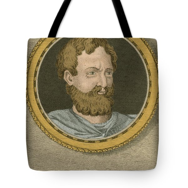 Theophrastus, Ancient Greek Polymath Tote Bag by Science Source