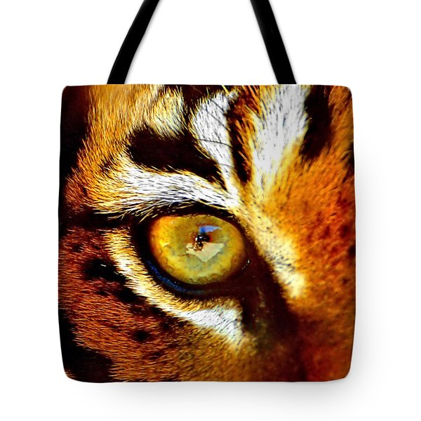 Tigers Eye Tote Bag by Marlo Horne
