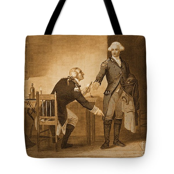 Treason Of Benedict Arnold, 1780 Tote Bag by Photo Researchers
